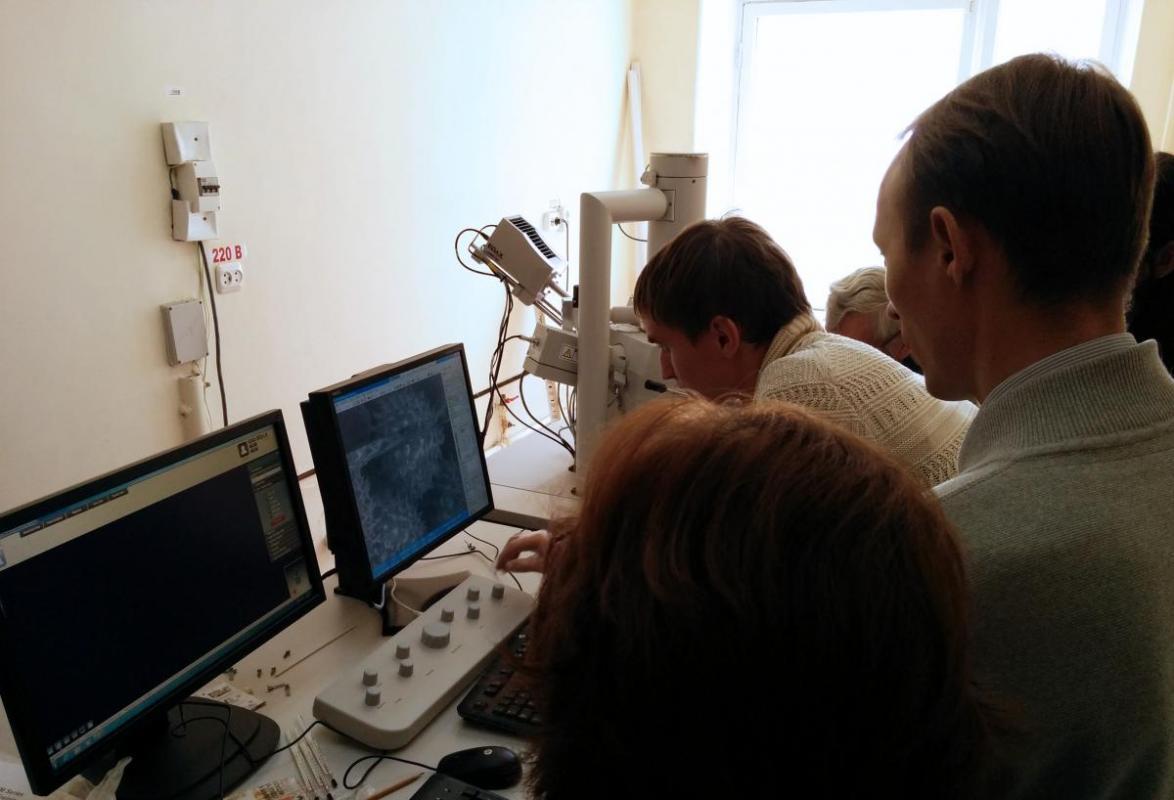 Проекты Техноинфо: в Удмуртском Государственном Университете произведен запуск сканирующего электронного микроскопа FEI Inspect S50 с системой энергодисперсионного анализа EDAX.