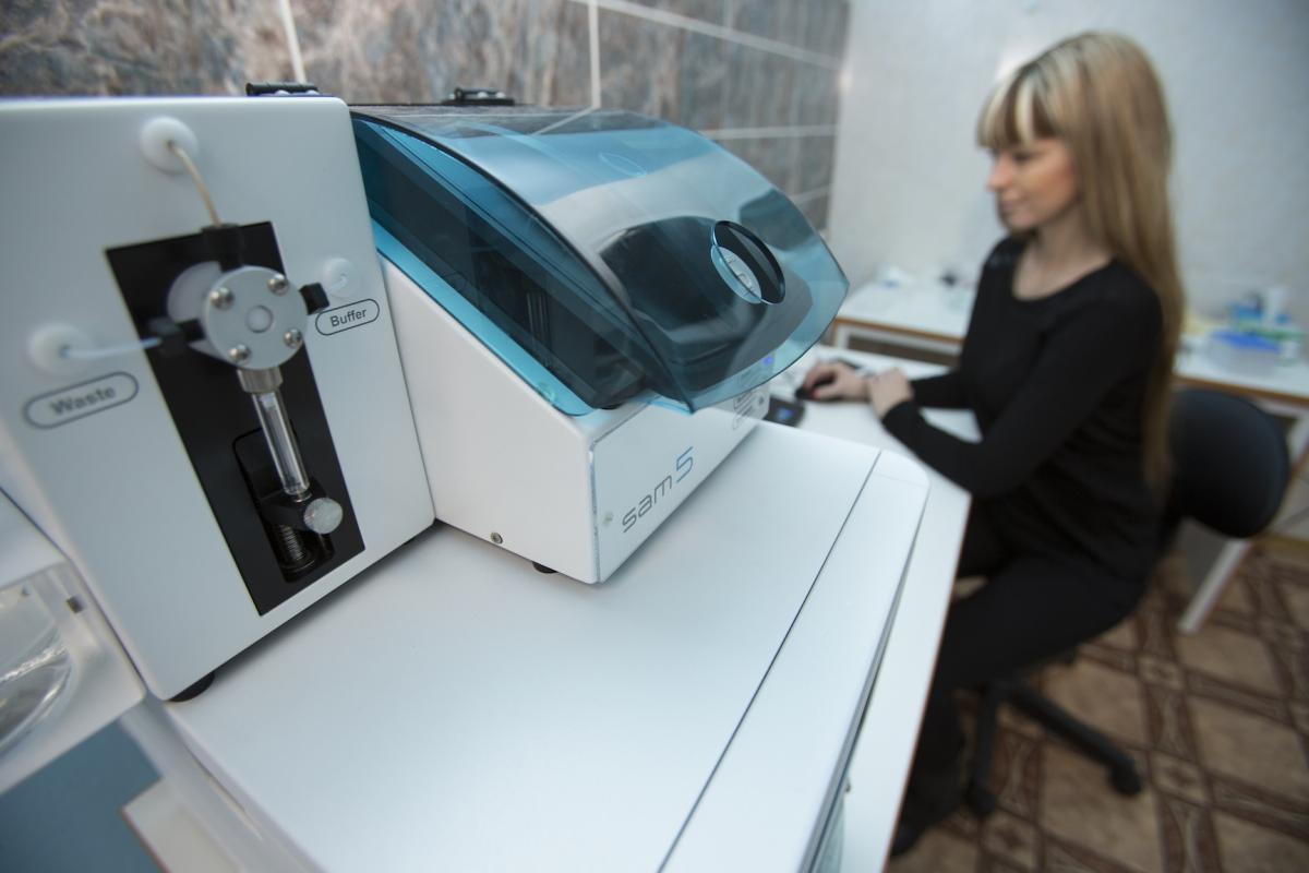 В ЮФУ установлен биосенсор Sam 5 Blue