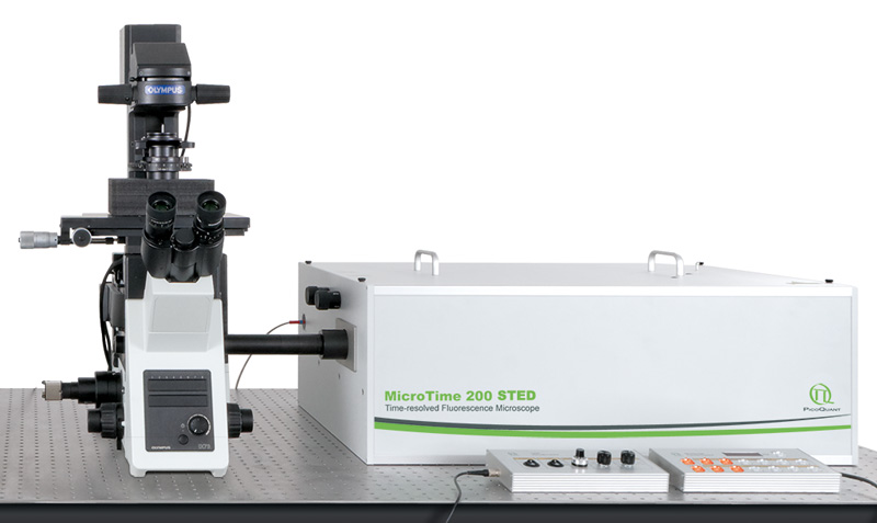 Времяразрешенный конфокальный флуоресцентный микроскоп PicoQuant MicroTime 200 STED купить в Техноинфо