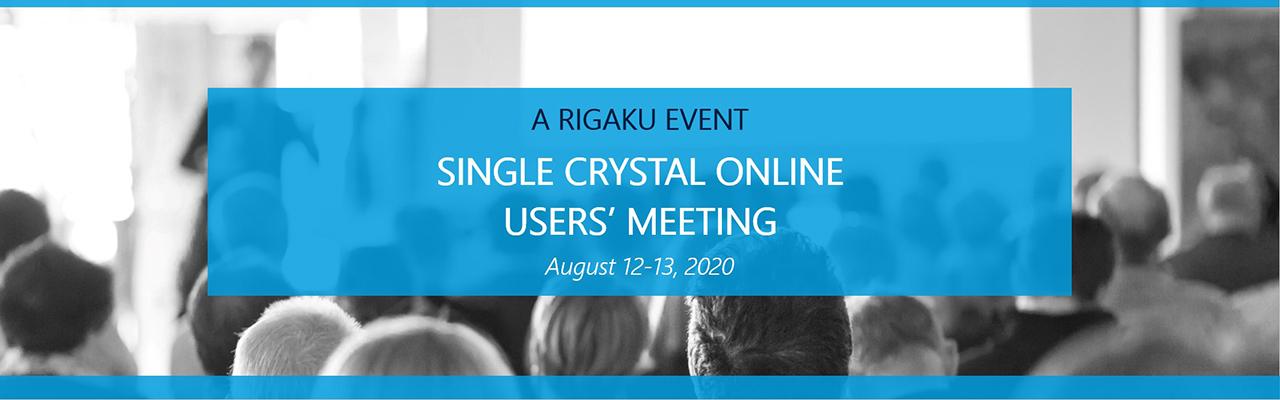 Ежегодная встреча пользователей Rigaku Single Crystal Online Users' Meeting состоится 12-13 августа